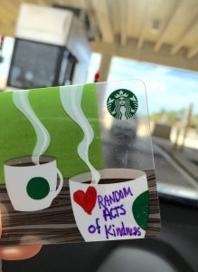 Giving Starbucks Gift Cards to Toll Booth Operators
