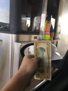 Paying tolls for strangers