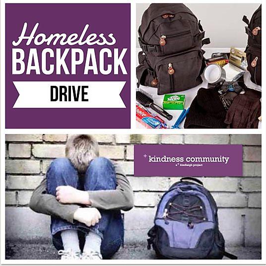 Homeless Backpack Drive