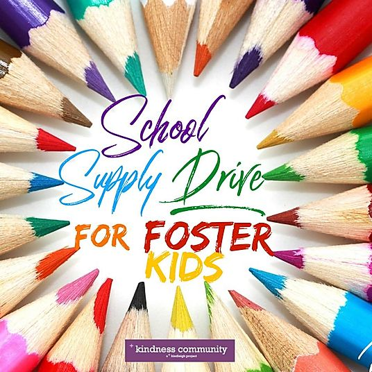 School Supplies and Toys for Foster Kids